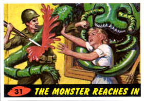 Mars Attacks Card 31 - The Monster Reaches In